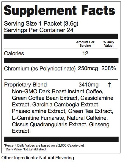 Slimroast coffee ingredients